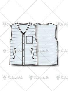 Flat Sketches, Fashion Flats, Downlights, Sewing Patterns, Vest, Sketching, Womens Fashion, Fashion Design, Shopping