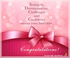 wish your loved ones and convey your feelings on their success with this bright and lovely congratulation card