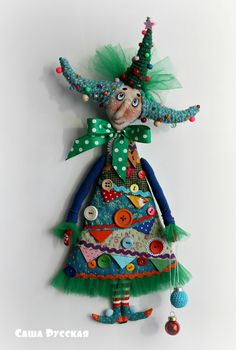VK is the largest European social network with more than 100 million active users. Yarn Dolls, Fabric Dolls, Handmade Felt, Handmade Crafts, Felt Christmas Ornaments, Christmas Tree, Gothic Dolls, Monster Dolls, Sewing Dolls