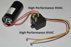 Air Conditioner Condenser Electrical Components - There are many electrical components inside an air conditioner unit. Ac Wiring, Home Electrical Wiring, Electrical Projects, Electrical Installation, Electrical Components, Electronics Projects, Hvac Air Conditioning, Refrigeration And Air Conditioning, Ac Capacitor