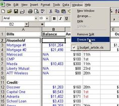 make an Excel spreadsheet Budget in 4 easy steps