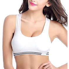 70b04c0747 Women s Sports Bra Seamless High Impact Support Racerback Workout Yoga Bras  -- Click image to review more details. (This is an affiliate link)   SportsBras