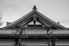 There isn't much better than traditional Japanese rooftop architecture - #tokyo #japan #blackandwhite