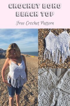 Crochet Boho Beach Top – Free Pattern Made with just 9 granny squares this simple crochet boho top will take you from beach to music festival with effortless style. Check out the free crochet pattern below! Crochet Summer Tops, Crochet Halter Tops, Easy Crochet, Free Crochet, Crochet Granny, Granny Square Häkelanleitung, Granny Squares, Boho Crochet Patterns, Black Crochet Dress