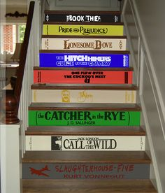 Classic Books Stair Decals Famous literature Riser stair