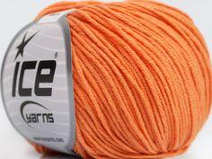 Fiber Content 50% Acrylic 50% Cotton Light Orange Brand Ice Yarns fnt2-43834