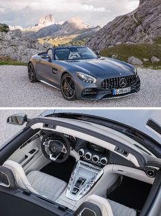 The new Mercedes-AMG GT C is quickly transformed from a coupé to a open-top sports car. [Combined fuel consumption 11.4 l/100 km   combined CO2 emission 259 g/km   http://mb4.me/efficiency_statement]