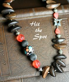 Hit the Spot, created for the 8th Bead Soup Blog Party with soup ingredients from Sabine Dittrich