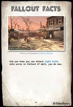 Interesting Fallout Facts from Fallout 3 & New Vegas Fallout 3, Fallout 4 Tips, Fallout Facts, Fallout New Vegas, Fallout Funny, Fallout 4 Settlement Ideas, Vault 111, Xbox, Bethesda Games