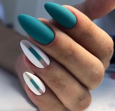 nails - pretty matte nail art designs ideas spring 2019 page 35 Matte Acrylic Nails, Gold Nails, Acrylic Nail Designs, Oval Nails, Shellac Nails, Gel Manicure, Black Nails, Solid Color Nails, Nail Colors