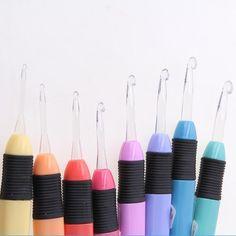 8Pcs Golden Double End Crochet Hook Bamboo Knitting Needle Set Home Weave N