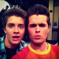 Okay, I admit it, I like the Disney show Lab Rats. Billy Unger (l) and Spencer Boldman (r) are bionic brothers on it. It might be early stages of insanity, but I laugh at the jokes. Cute show.