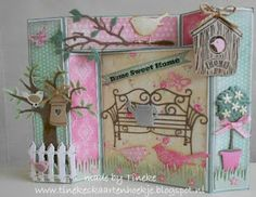I am so sorry this post is so late going live. We would like thank everyone that took part in are last challenge and here are the 2 luc. 123 Cards, Marianne Design Cards, Card Making Designs, Karten Diy, B 13, Garden Theme, 3d Paper, Wheelbarrow, Garden Crafts
