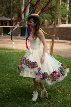 Andean inspired wedding dress