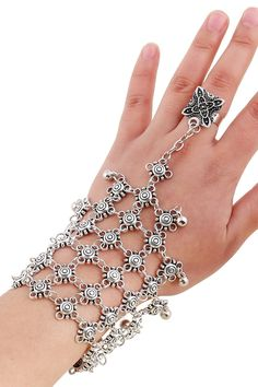 Chic Bead Hollow Plaid Bracelet and Ring For Women #women, #men, #hats, #watches, #belts, #fashion