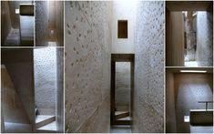 Concrete walls - connected spaces