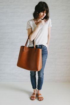 """The bag is too big for me, but everything else is exactly how I look on any given day anymore. I'm all about that """"I just threw this on and look understatedly awesome"""" kind of thing."""