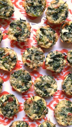 Bacon & Spinach Mini Quiches (can be made with or without crust!)