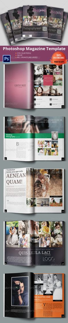 Photography Magazine/Brochure - Magazines Print Templates