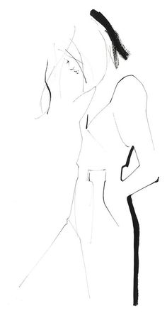 Fashion illustration - minimal fashion sketch // Yoco Nagamiya www.lab333.com www.facebook.com/pages/LAB-STYLE/585086788169863 www.lab333style.com www.instagram.com/lab_333 lablikes.tumblr.com www.pinterest.com/labstyle