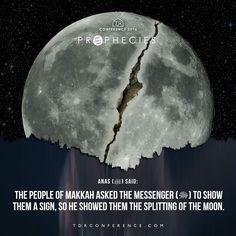 Surah Al-Qamar (The Moon) Surah 54, Verse 1: اقْتَرَبَتِ السَّاعَةُ وَانشَقَّ الْقَمَرُ The Hour (of Judgment) is nigh, and the moon is cleft asunder.