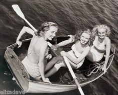 Marilyn Monroe Young w Girls in Row Boat Candid RARE 8x10 Photo | eBay