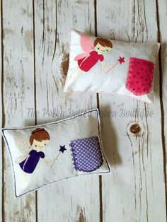 Tooth Fairy Pillow   Your little girl will LOVE sliding her tooth in the little pocket, then seeing her reward peeking at her when she wakes up!! Our