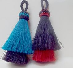 Double layer tassel from Knot-a-Tail.com  The tassel is from http://knot-a-tail.com/catalog/16  #horsehair tassels