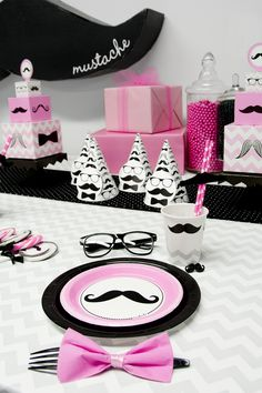 mustache party ideas for girls | pink-mustache-7