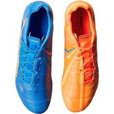 PUMA evoPOWER 1 H2H FG (Orange Clown Fish/Electric Blue Lemonade)... ($80) ❤ liked on Polyvore featuring men's fashion, men's shoes, orange, mens gold shoes, mens lace up shoes, mens shoes, puma mens shoes and mens orange shoes