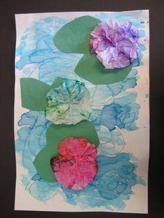 Monet's Water Lilies: Ms. Motta's Mixed Media