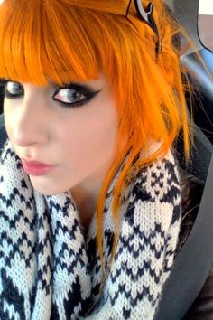 Love the orange hair! And her eyes too!