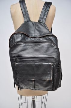 vintage leather backpack leather back pack by goodbyeheartwoman
