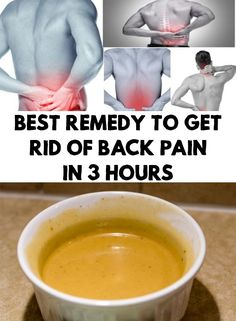 Every time when conventional medicine doesn't help you, it's time to use traditional medicine. Find out Best Remedy To Get Rid Of Back Pain In 3 Hours!
