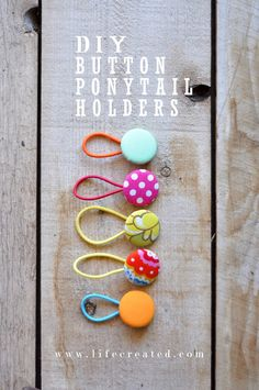 Dress up a plain hair tie with a customized fabric covered button in just minutes. Seriously, these are so easy, I made a few with one hand while I held my toddler.All you need are a few supplies, and you can have your own set of button ponytail holders to match many of your outfits!The buttons,…