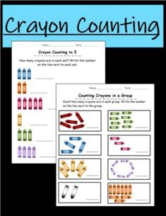 This resource includes 5 independent worksheet pages in which students practice counting up to 10 with crayons. Each page has a different format and approach to counting; students will practice counting in rows, circles, and mixed groups, as well as practice counting how many of each color in a grou...