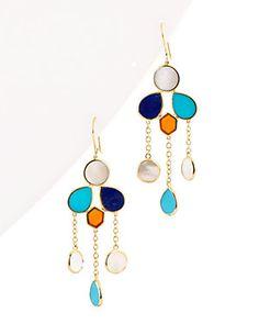 "IPPOLITA ""Polished Rock Candy"" 18K 9.00 ct. tw. Gemstone Drop Earrings"