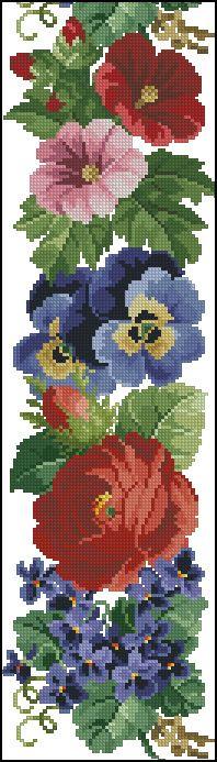 Idea para un cinturon Cross Stitching, Cross Stitch Embroidery, Hand Embroidery, Cross Stitch Designs, Cross Stitch Patterns, Embroidery Patterns Free, Cross Stitch Flowers, Embroidery Techniques, Loom Beading