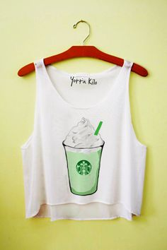 Yotta Kilo Green Tea Latte Crop Tank Top
