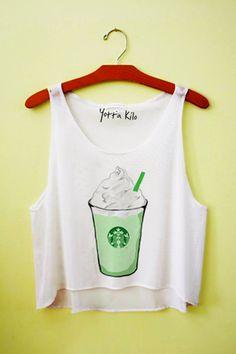 Yotta Kilo Green Tea Latte Crop Tank Top