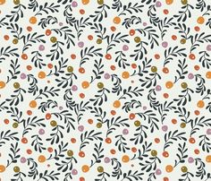 Olive Leaves fabric by sophia_marie on Spoonflower - custom fabric