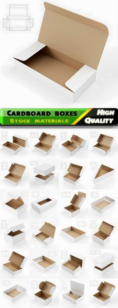 Design of cardboard box and package with drawing for cutting 2 - 25 HQ Jpg Cardboard Gift Boxes, Cardboard Packaging, Paper Packaging, Packaging Design, Cardboard Playhouse, Cardboard Crafts, Cardboard Design, Gift Box Packaging, Diy Gift Box