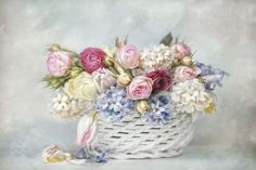 """""""Spring is beautiful. by Lizzy Pe on Art Floral, Floral Prints, Vintage Flowers, Vintage Floral, Quilling Patterns, Miniature Crafts, Decoupage Paper, Flower Pictures, Vintage Paper"""