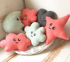 Kleuren mooi samen #plushies #kawaii #moon #star #cloud #nursery #baby #babyshower #childrensroom #childrenstoys #present #kraamcadeau #kinderkamer #kinderspeelgoed #babykamer #orange #bymarijs