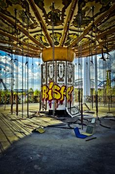 Six Flags New Orleans, abandoned since Hurricane  Katrina in 2005.