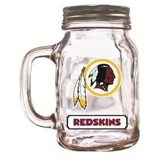 16 Ounce Mason Jar - Washington Redskins