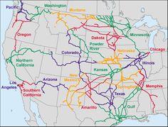 Transcontinental Railroad Map Transcontinentalrailroadmap - Us transcontinental railroads map