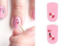 Nail Art: Rosas barrocas