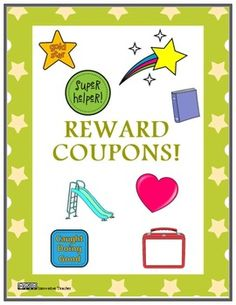Reward Coupons {Reward System or Classroom Management}