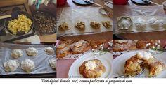 La buona cucina di Katty: Fiori ripieni di mele, noci, crema pasticcera. al profumo di rum